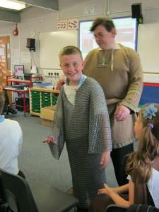 Life in AD 600/Armour Demo to students