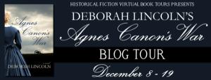 Agnes Canon's War book tour banner