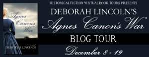 Agnes Canon's War book tour banner