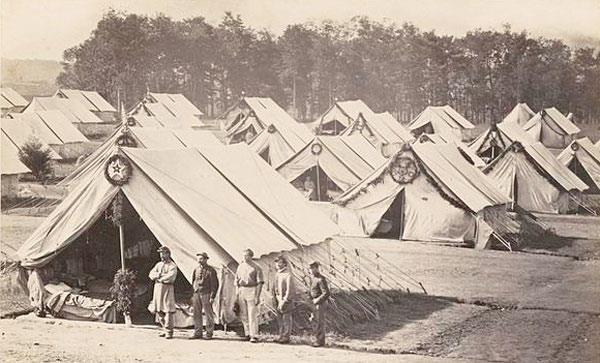 Camp Letterman tents