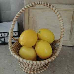 basket of lemon water