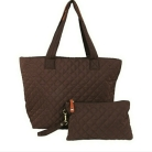 AR New York Quilted Carry Tote all with Wristlet