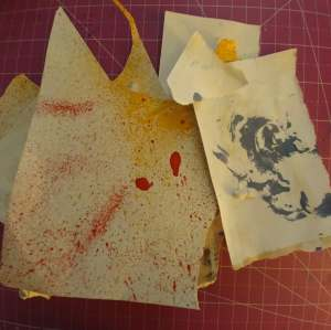 scrap paper used for two pages
