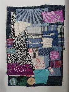 Kite Textile Collage