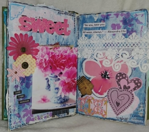 A Sweet Mixed Media Art Page