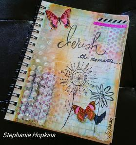 A cherish the moments page