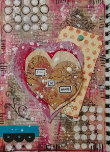 A You Be Brave Mixed Media Page II