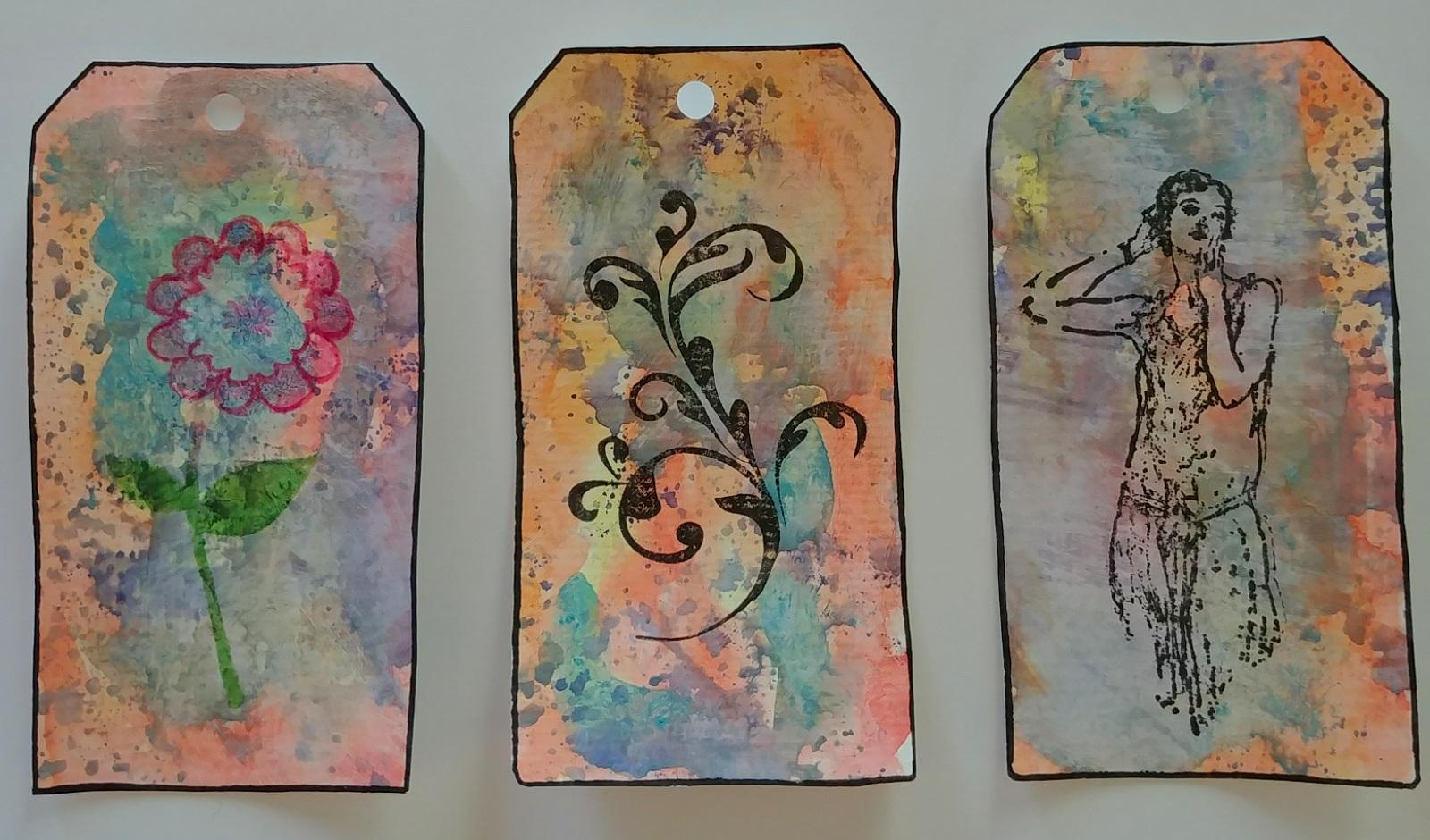 Artsits Tags with watercolors